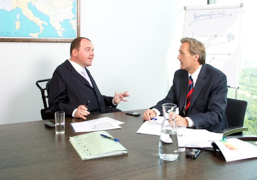 Reinhard Rodlauer in einem Gespräch