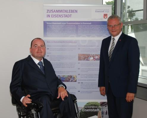 Reinhard Rodlauer mit Bürgermeister